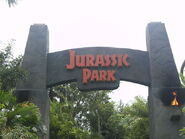 Jurassic Park Entrance Arch at the Universal Islands of Adventure