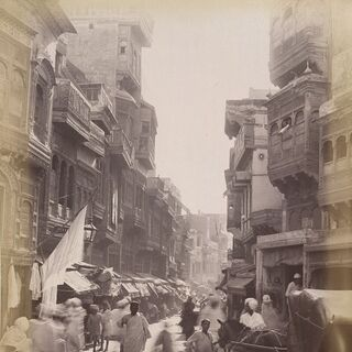 Street scene of Lahore 1890s.