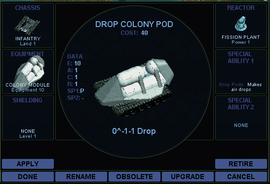 Drop colony pod (SMAC)