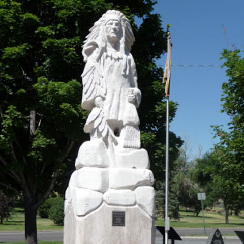 Statue of Pocatello in Pocatello, ID, by J. D. Adcox
