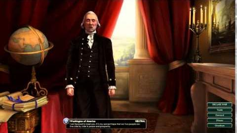 Civilization V Leader Washington of America Introduction