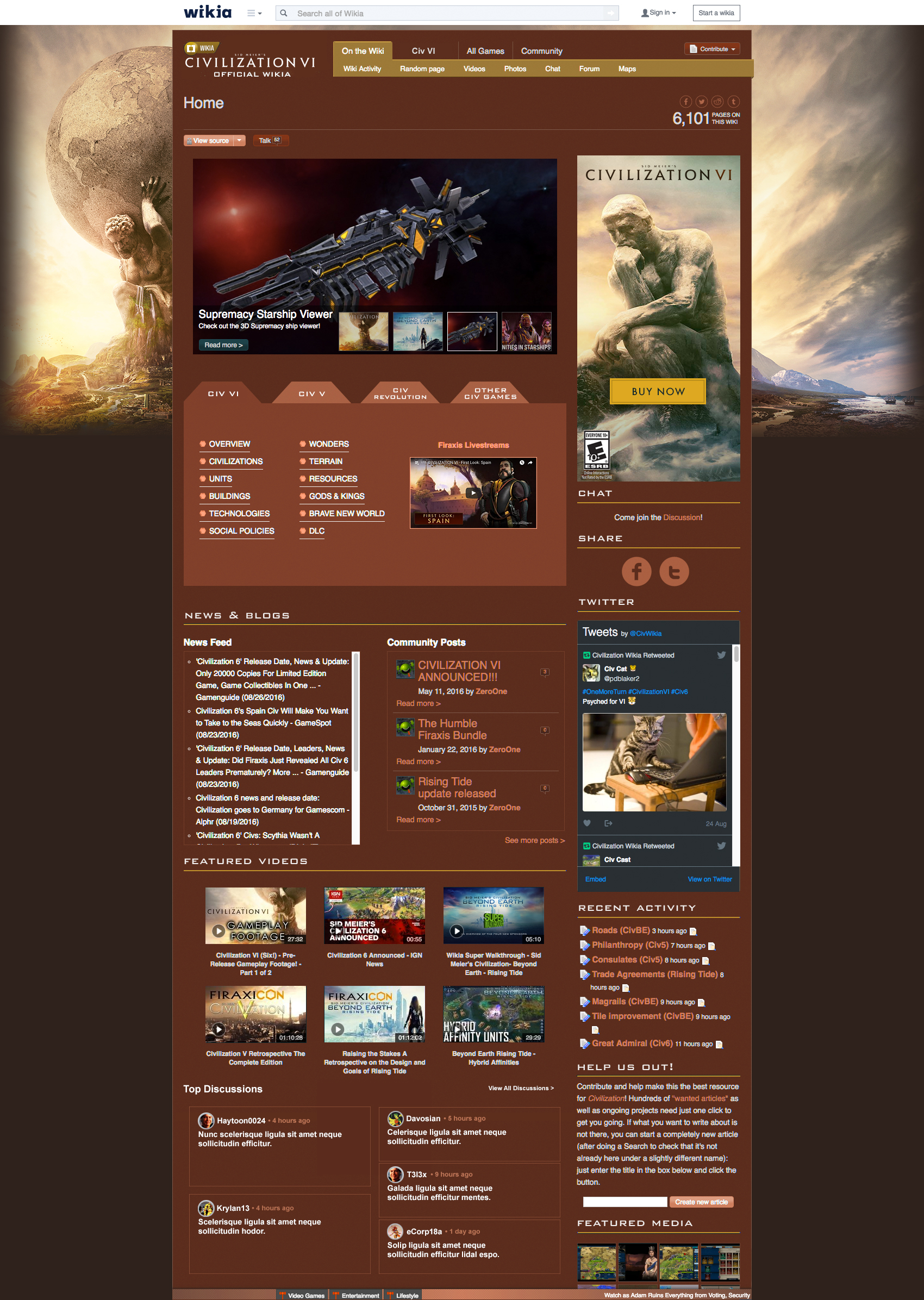 Civilization-6 Main-Page mock R1