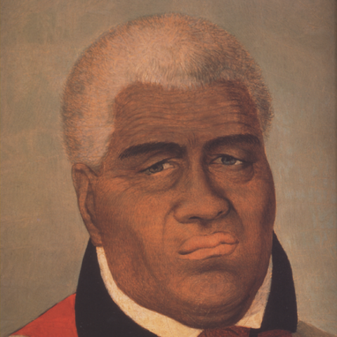 Portrait of an older Kamehameha from Bishop Museum in Honolulu