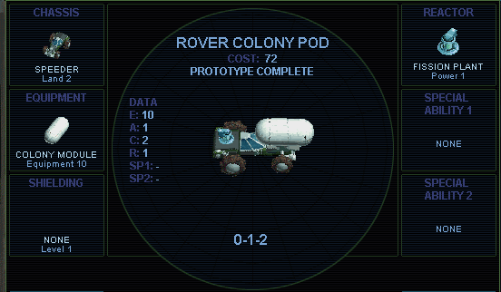 Rover colony pod (SMAC)