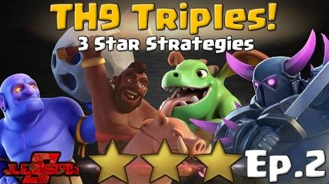 TH9 Triples – Ep.2! 3 Star Attack Strategies Clash of Clans