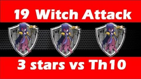 Mass Witch Attack (19 witches) vs TH10 for 3 stars - Clan Wars - Clash Of Clans