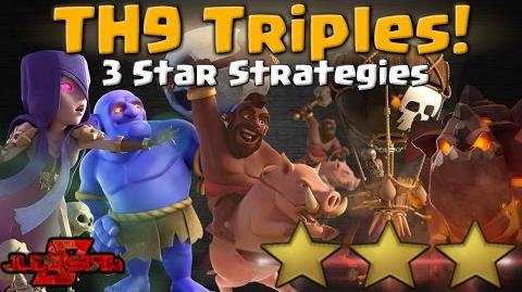 TH9 Triples! 3 Star Attack Strategies Clash of Clans