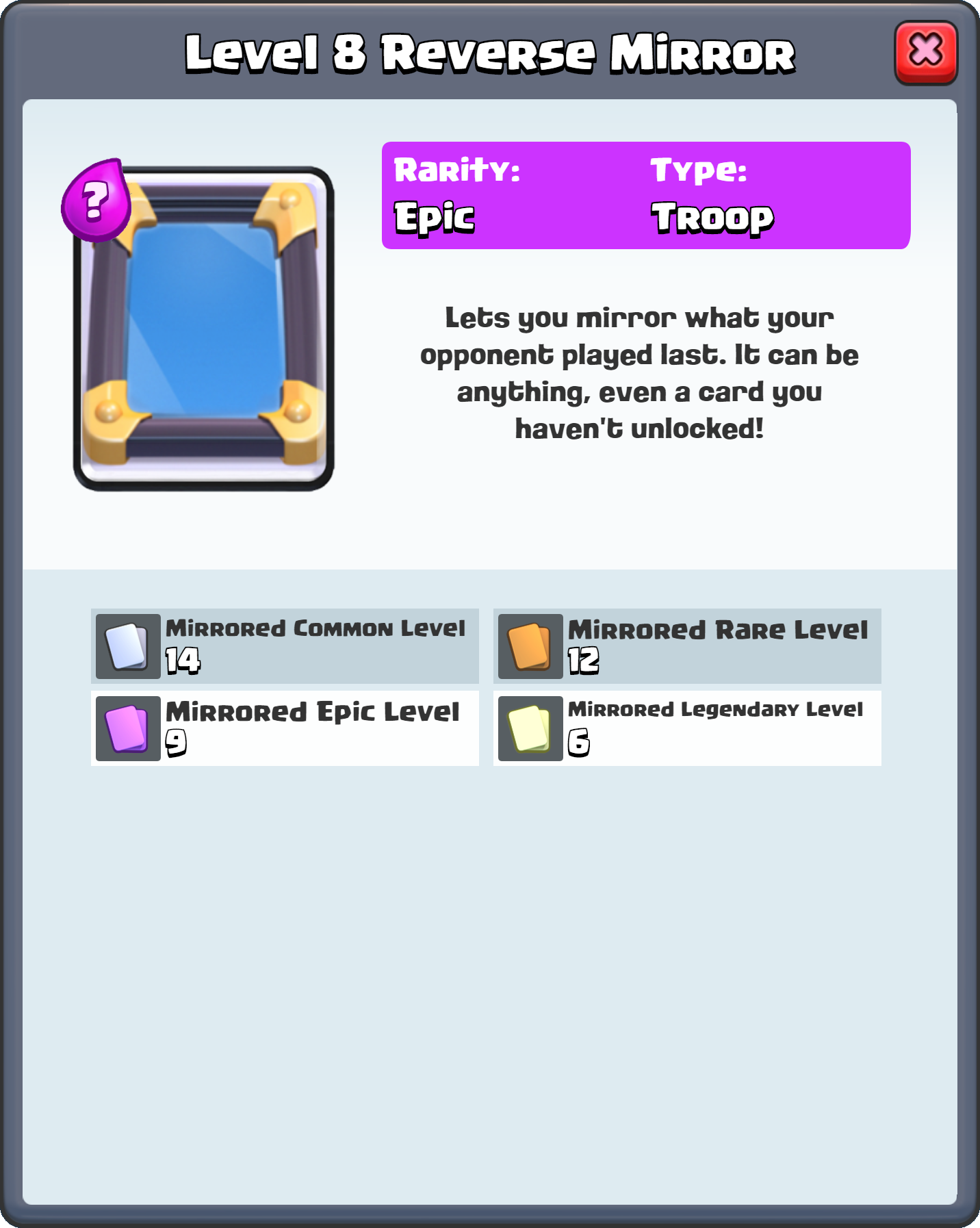 Image - Level 8 Reverse Mirror FQ.png | Clash Royale Wikia ...