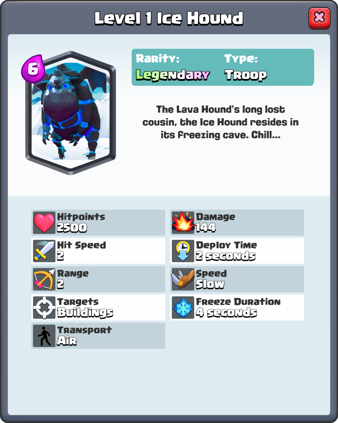 ... Ice Hound HD.png | Clash Royale Wikia | Fandom powered by Wikia