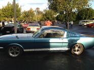 Blue mustang fastback 66
