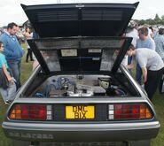 Delorean rear view