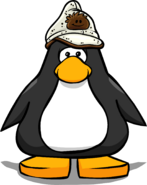 Brown Puffle Cap on Player Card