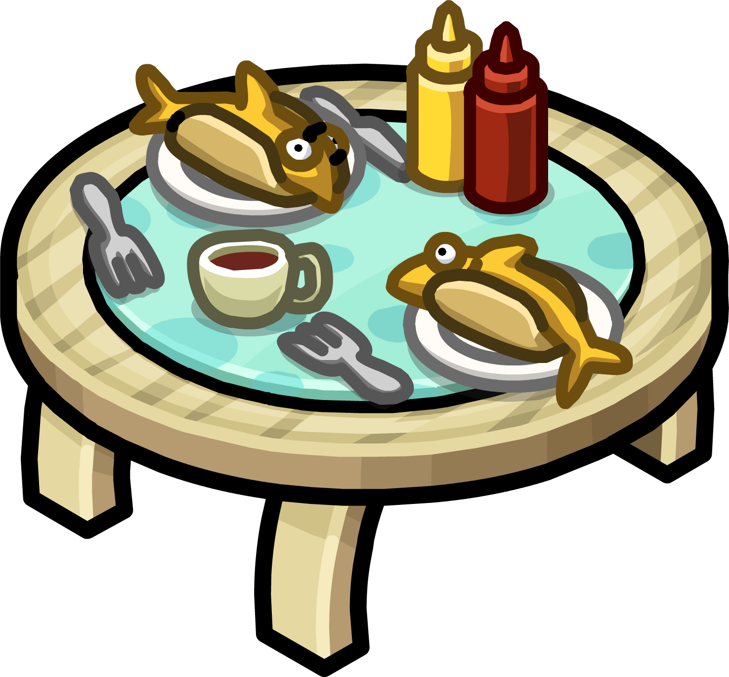 Table for two club penguin wiki fandom powered by wikia for Table for two