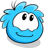 Blue Puffle Looking Up