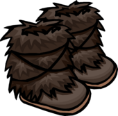DarkBrownFuzzyBoots