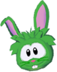 Green rabbit 3d icon