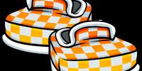 Orange Checkered Shoes