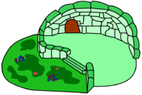 Green Clover Igloo igloo icon ID 32