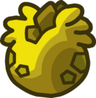 Lodge Attic Yellow Stegosaurus Puffle Egg