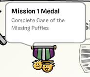 Mission 1 medal stamp book