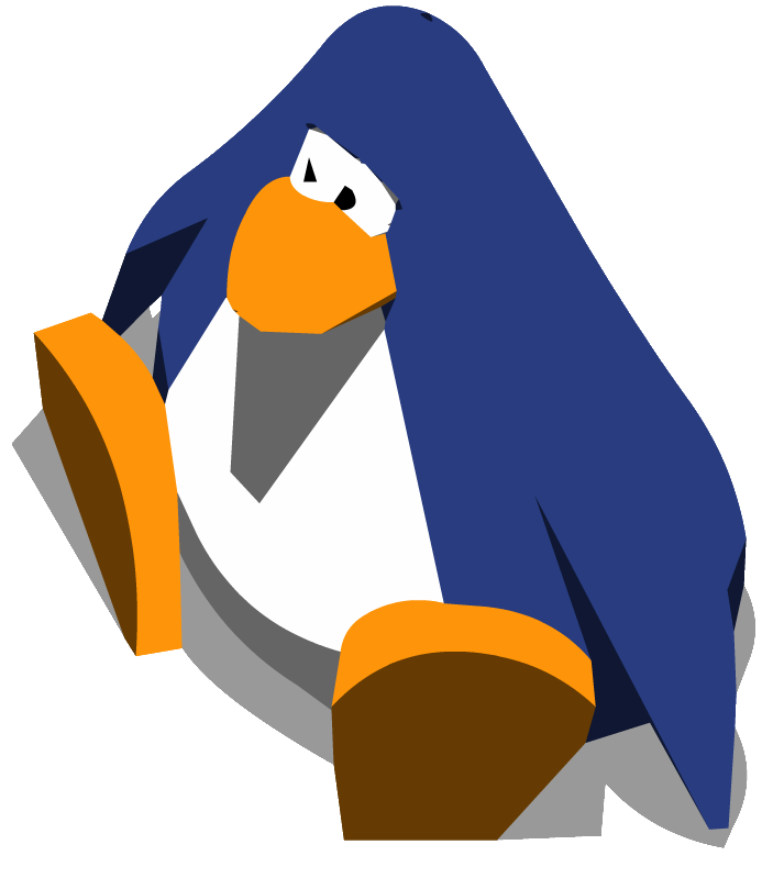 Old Blue Club Penguin an Old Blue Penguin Sitting