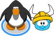 Gold Viking Helmet (Puffle Hat) In-Game
