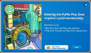 Puffle Party 2012 Puffle Play Zone membership popup