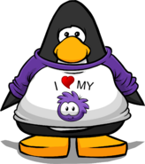 I Heart My Puffle T-Shirt player card