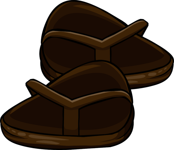 File:Brown Flip Flops clothing icon ID 6171.png