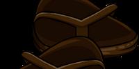 Brown Flip Flops