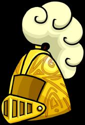 Golden Knight's Helmet