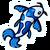Blue Fish Pin