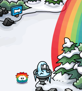 File:Rainbow Puffle at Dock 2013.png
