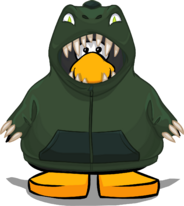 T Rex Hoodie from a Player Card
