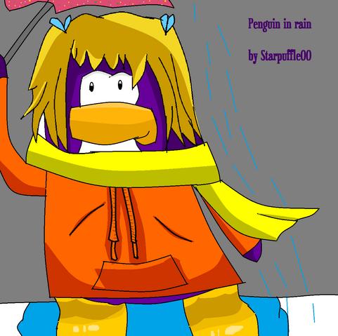 File:Penguin In Rain Club Penguin Picture xxx.png