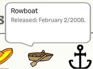 Rowboat Pin in Stampbook