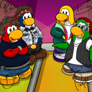 Penguin Band Background photo de