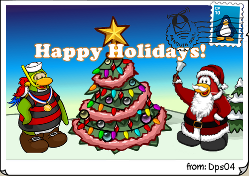 Happy Holidays postcard dps