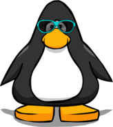 Real Teal Sunglasses from a Player Card