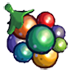 Rainbow berry icon