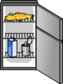 Stainless Steel Fridge sprite 002