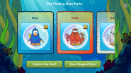 Finding Dory Party app interface page 2