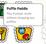 Puffle paddle stamp book
