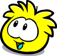 Yellow PuffleLookingLeft