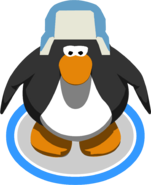Blue Fuzzy Hat 3