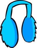 Blue Earmuffs clothing icon ID 483