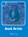 Aunt Arctic when she is offline on the buddy list