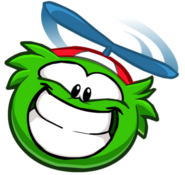Green Funny Puffle