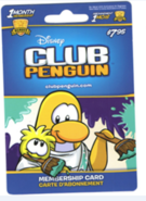 Club Penguin Membership card