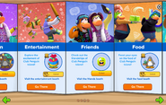 Club Penguin Island Party interface page 3
